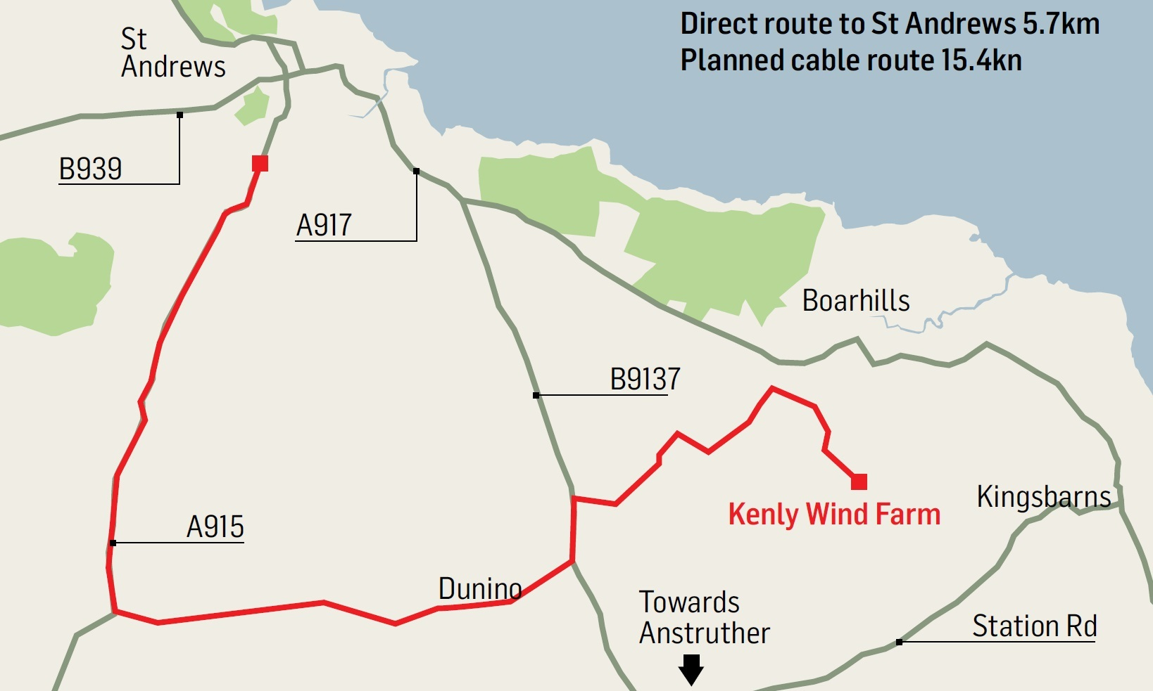 The Kenley wind farm would help St Andrew's University to meet its ambitious renewable targets.