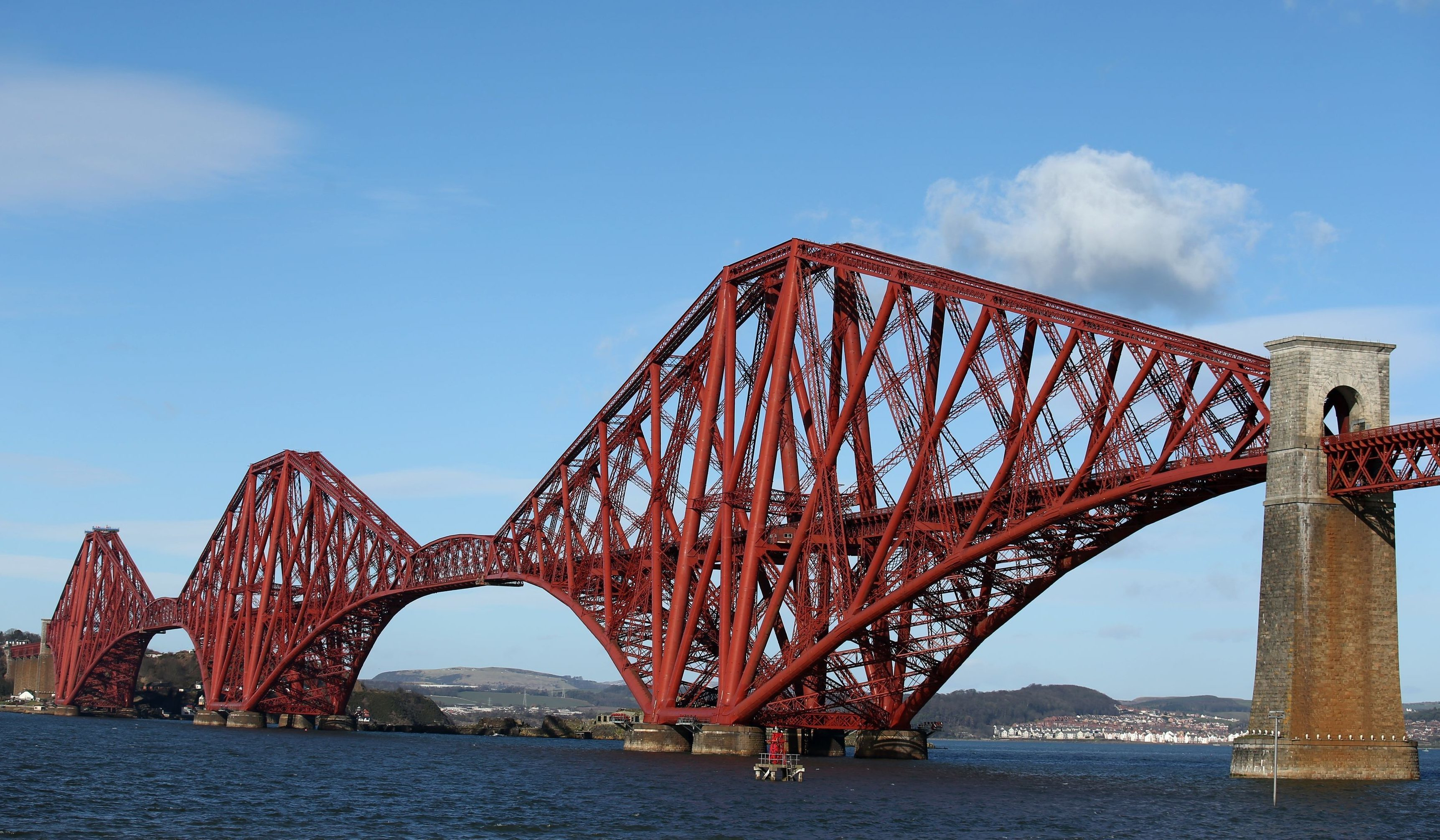 A person was on the line on the Forth Bridge