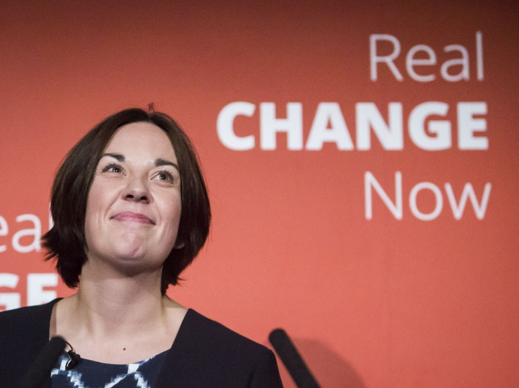 Scottish Labour leader Kezia Dugdale ahead of addressing the Scottish Labour Conference at the Glasgow Science Centre in Glasgow. PRESS ASSOCIATION Photo. Picture date: Saturday March 19, 2016. See PA story SCOTLAND Labour. Photo credit should read: Danny Lawson/PA Wire
