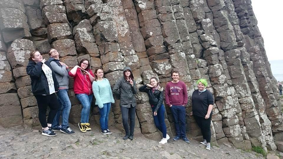 Young adult carers enjoying a break away from their caring role in Northern Ireland.