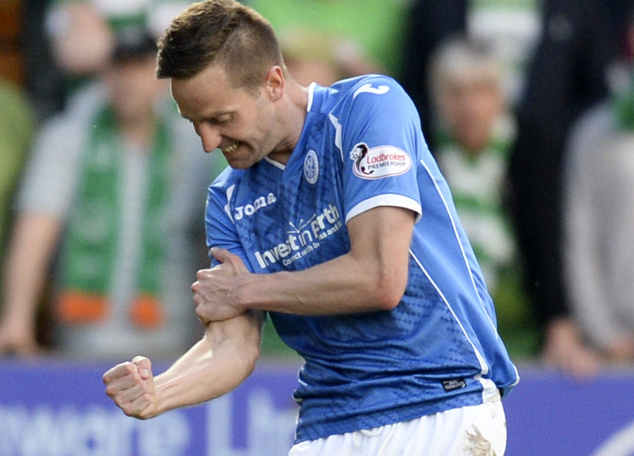 St Johnstone fans won't be seeing this celebration again.