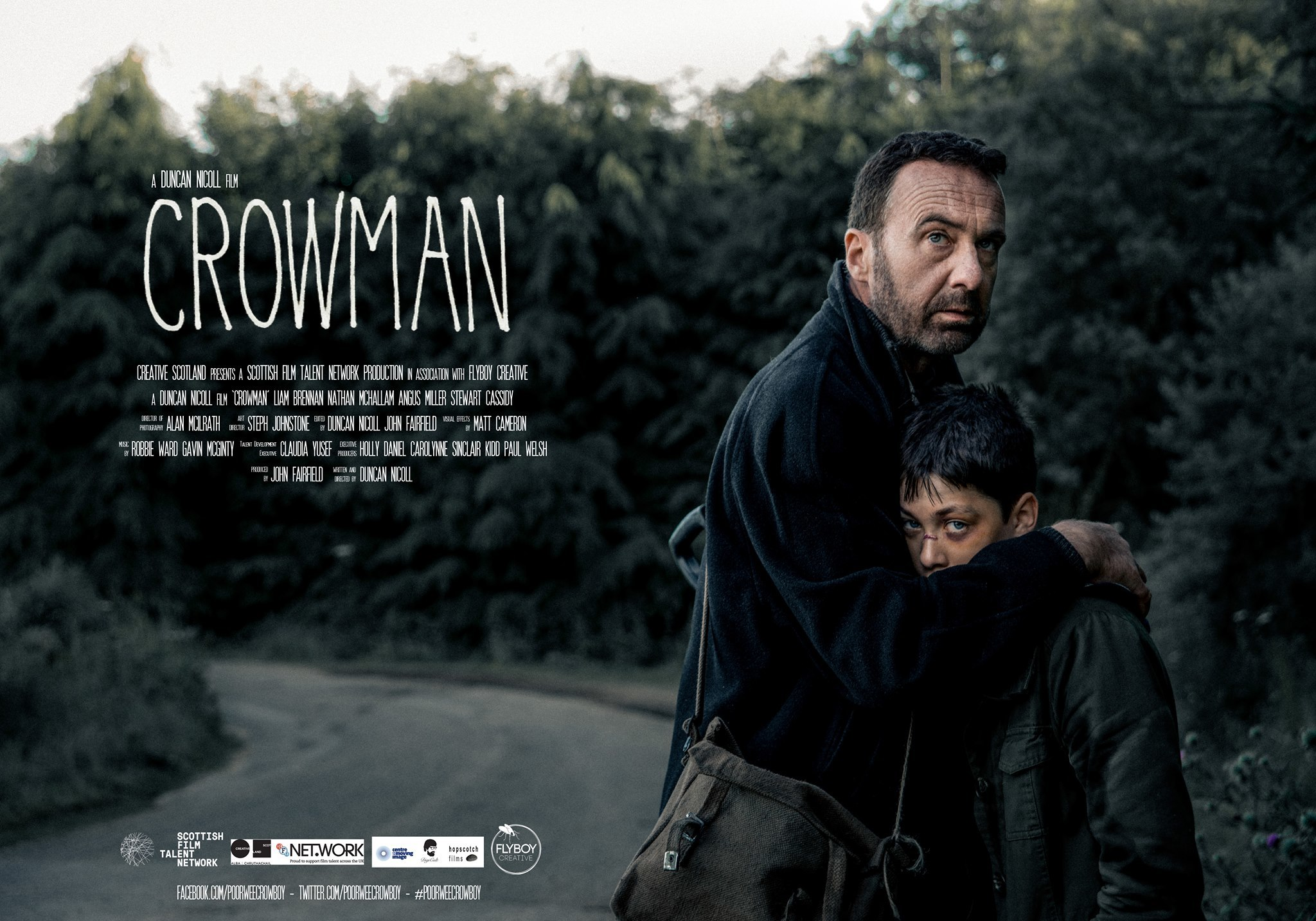 Crowman will have its world premiere at the Edinburgh International Film Festival next month before a second screening in Hollywood. The striking film poster image was taken by Steve Galloway.
