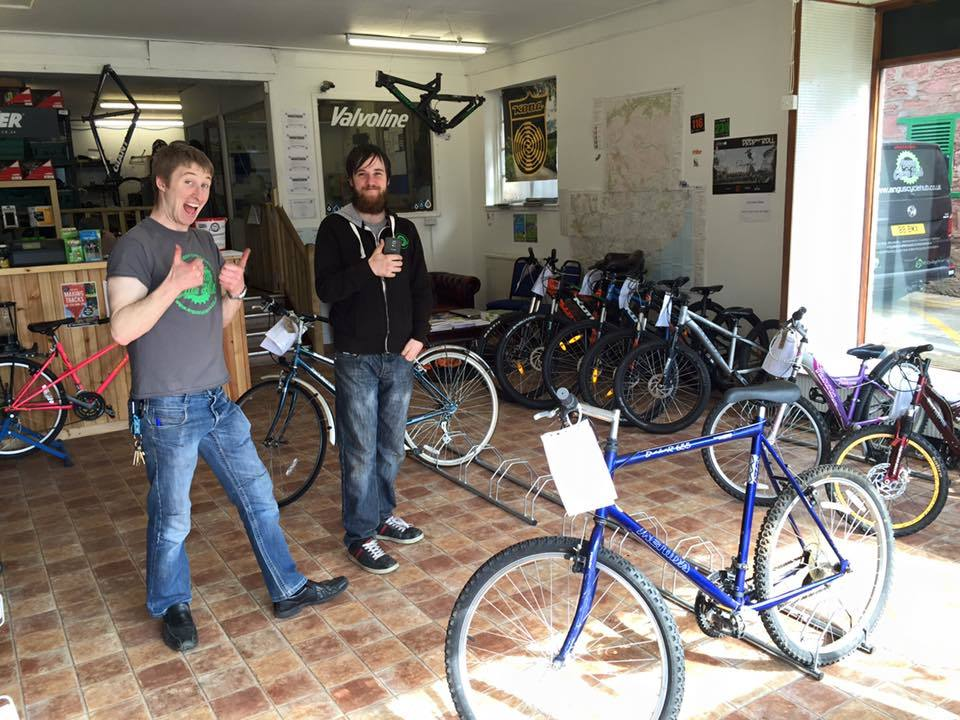 A busy open day on Saturday saw most of the Hub's recycled bikes sold to new owners.