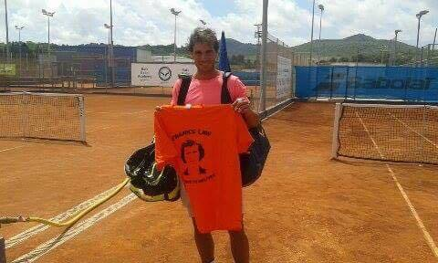 Nadal gives his support to the cause during a break in training in Mallorca