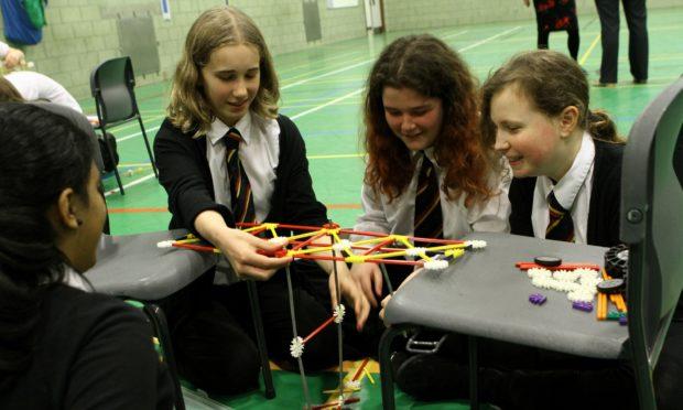 A STEM day challenge held in Queen Anne High School, Dunfermline