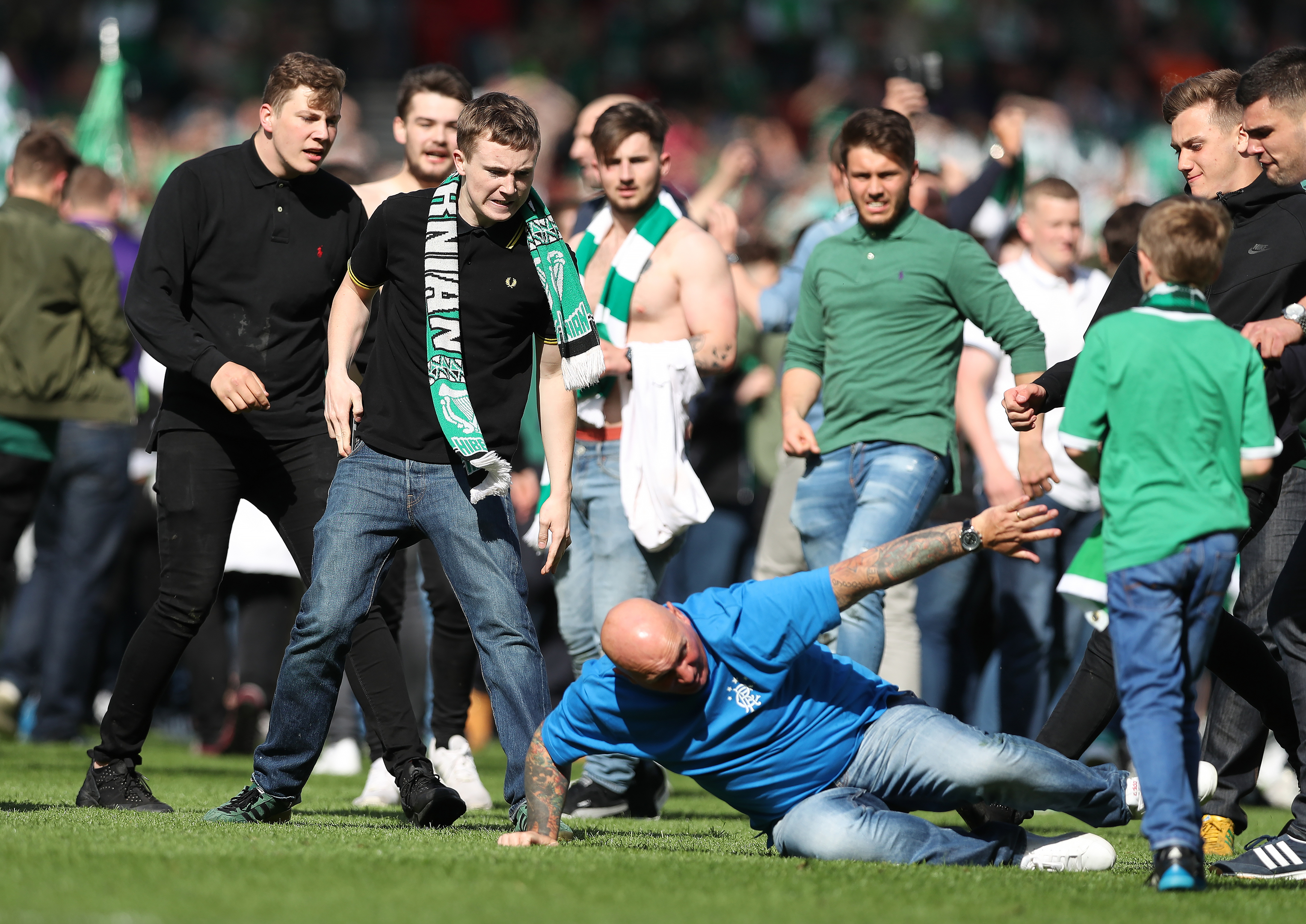 One of the ugly images that shames Scottish football.