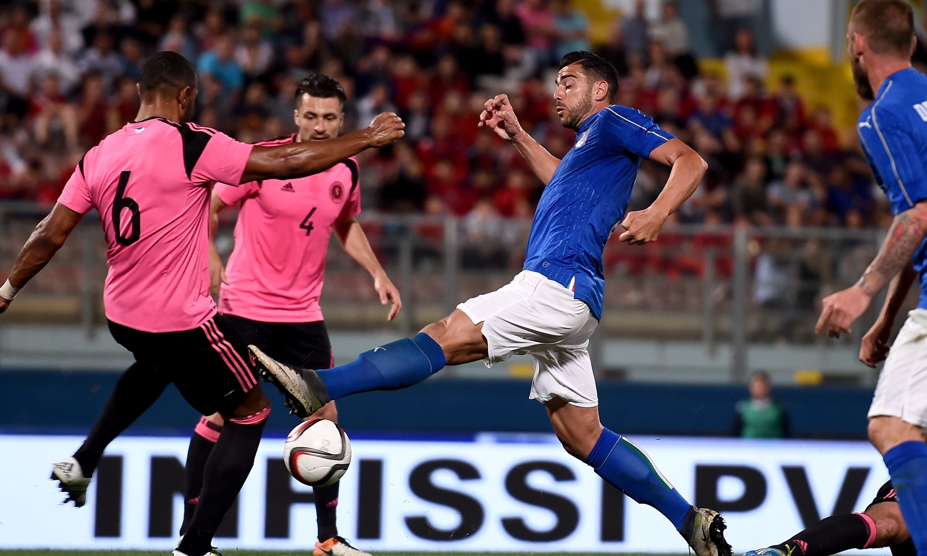 Graziano Pelle of Italy in action.