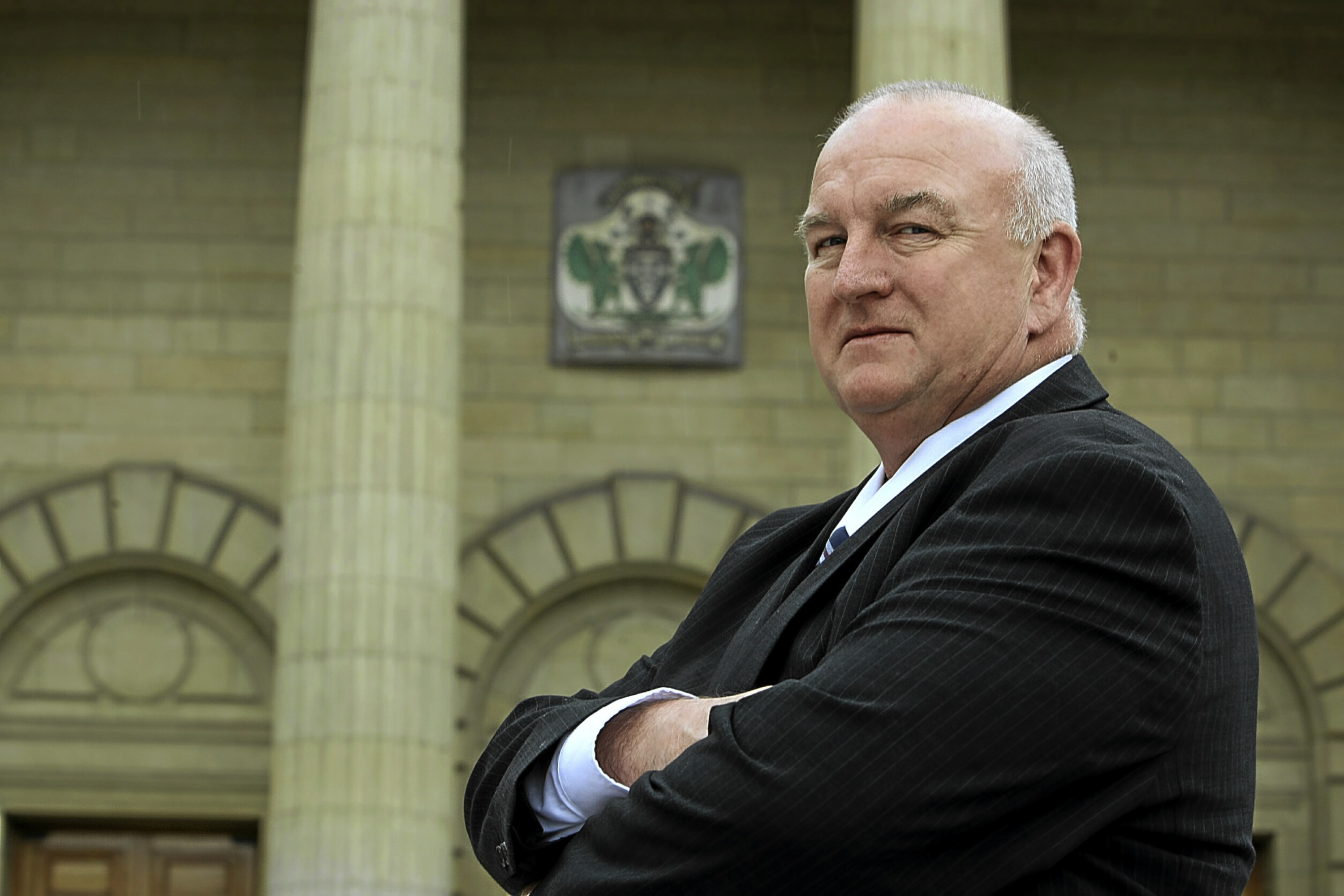 Kevin Keenan couldn't make it to the City Chambers on budget day.