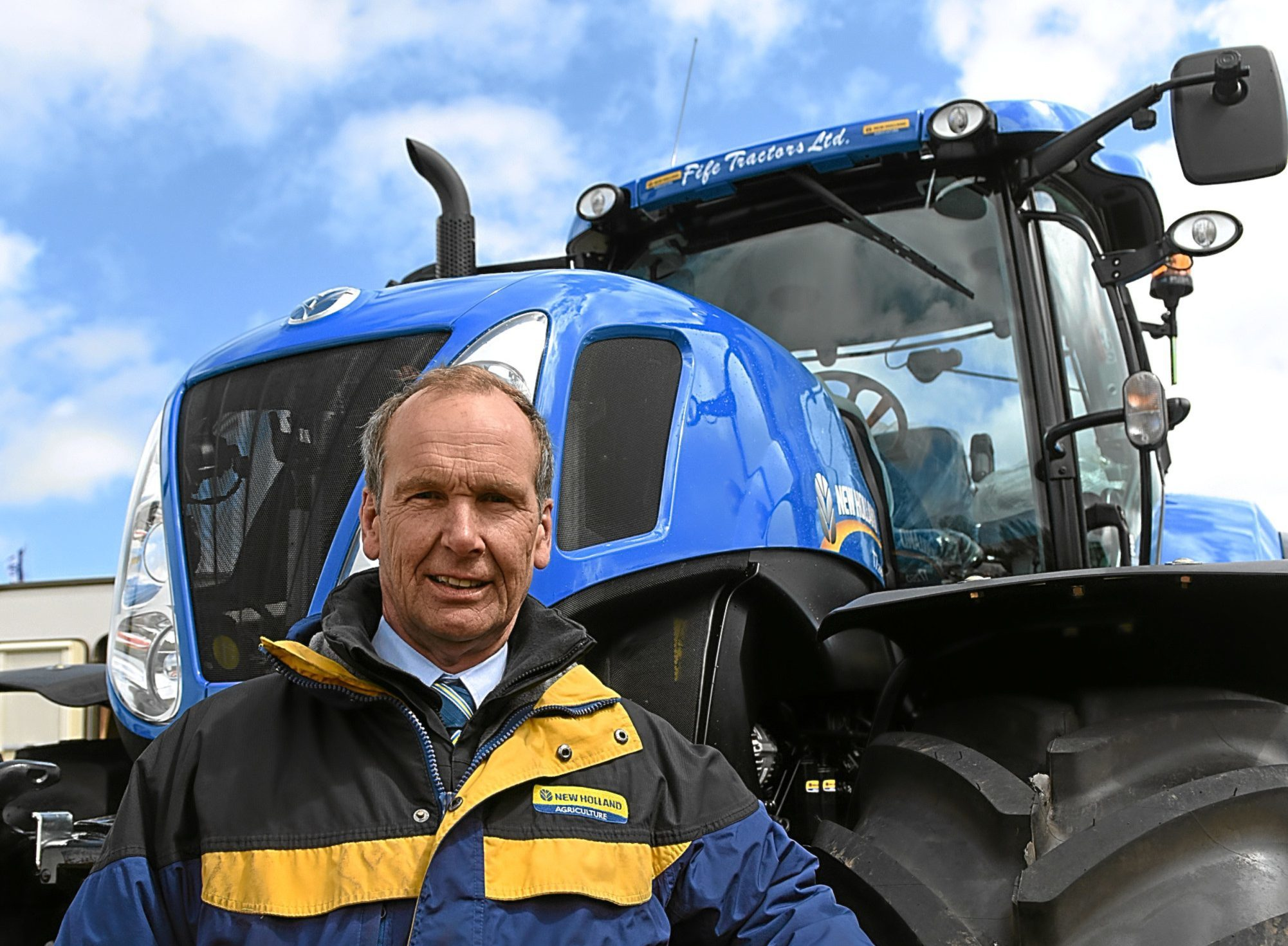 Sales Manager with Fife Tractors Davie Ferguson.