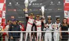 Jonny celebrated his Brands Hatch win.