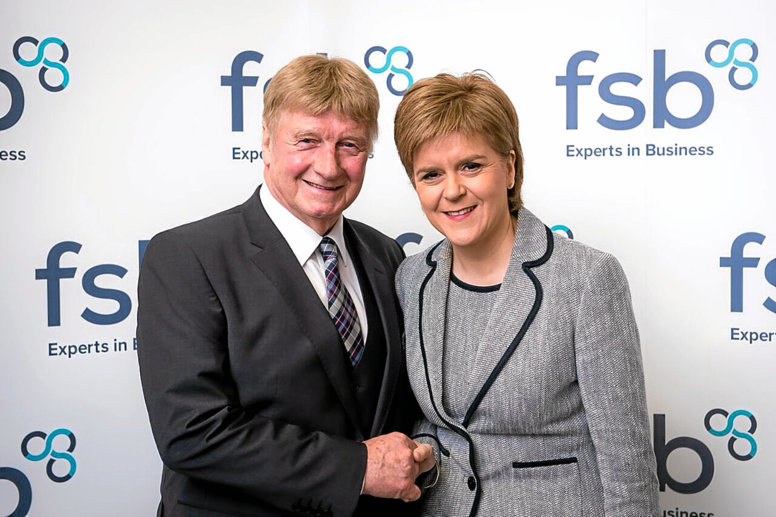 Andy Willox, Scottish policy convener of the Federation of Small Businesses, with First Minister Nicola Sturgeon.