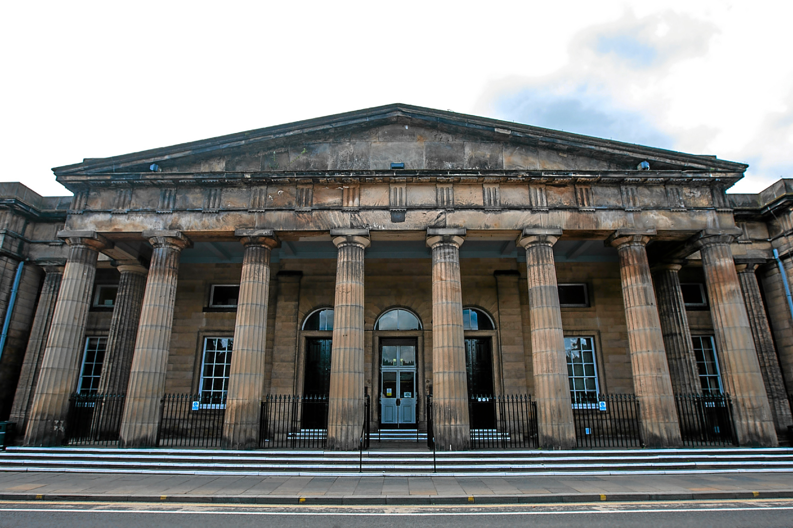 Building exterior of Perth Sheriff Court, Tay Street, Perth.