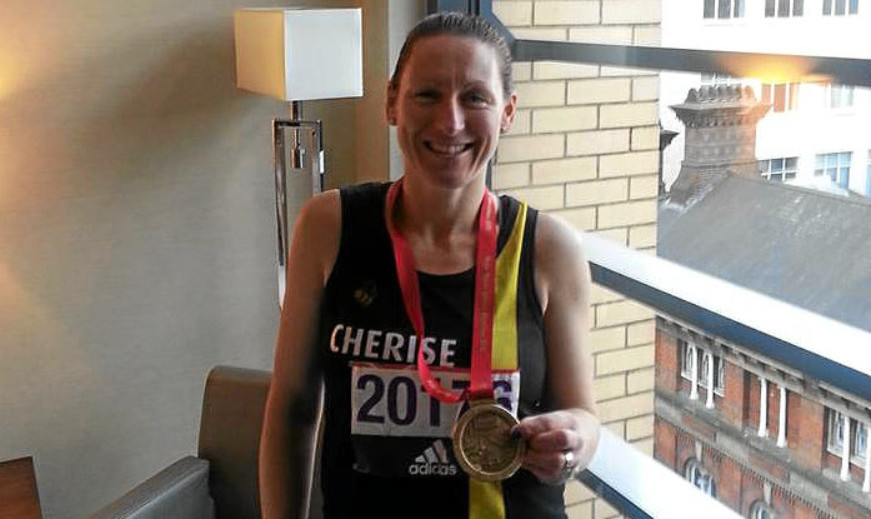 Cherise Whamond of Angus Athletics Arena who completed the London Marathon in 4 hours 10 minutes.