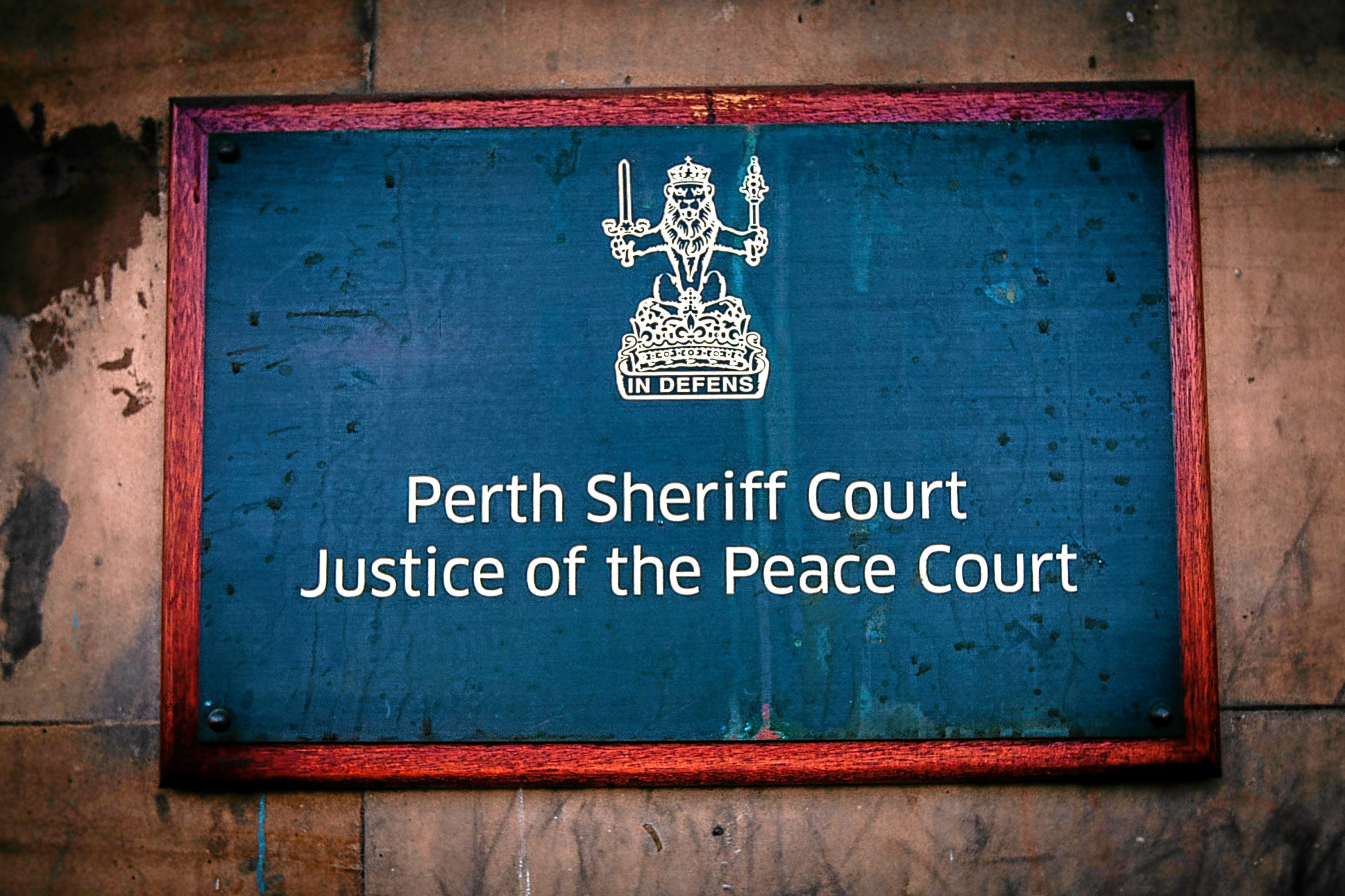 Perth Sheriff Court.