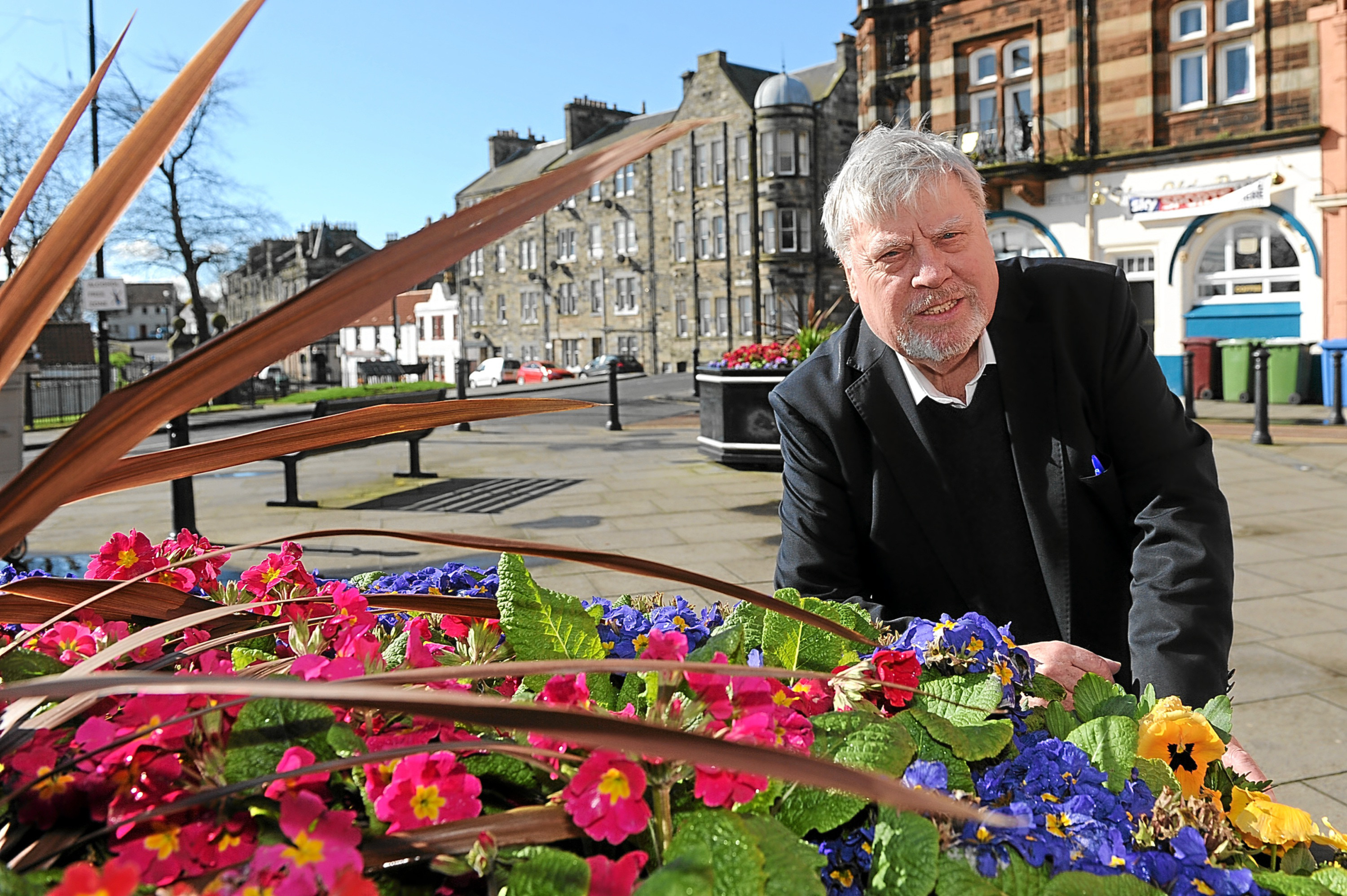 George Kay is pleased to see the town looking good for summer.