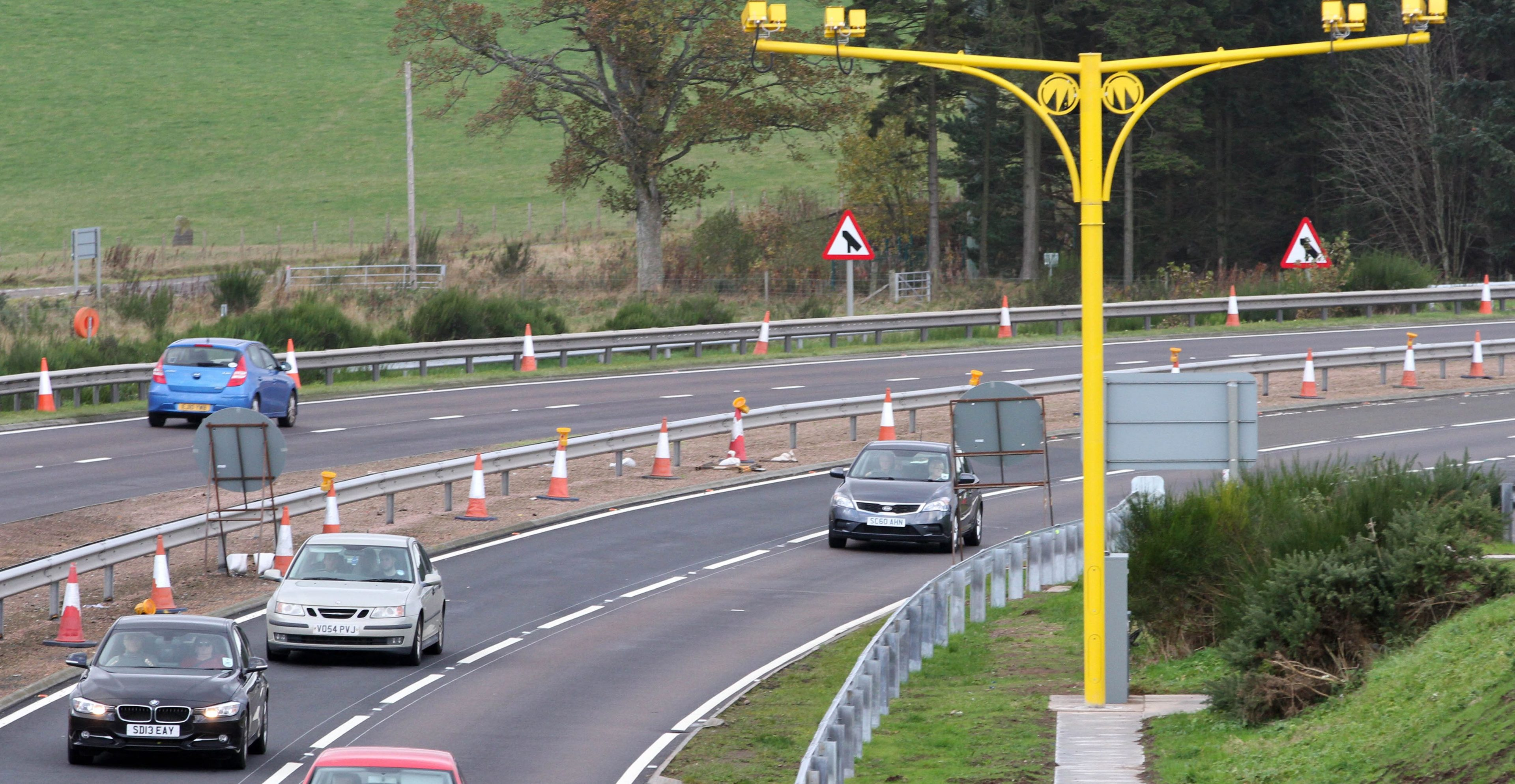 The A9 average speed cameras