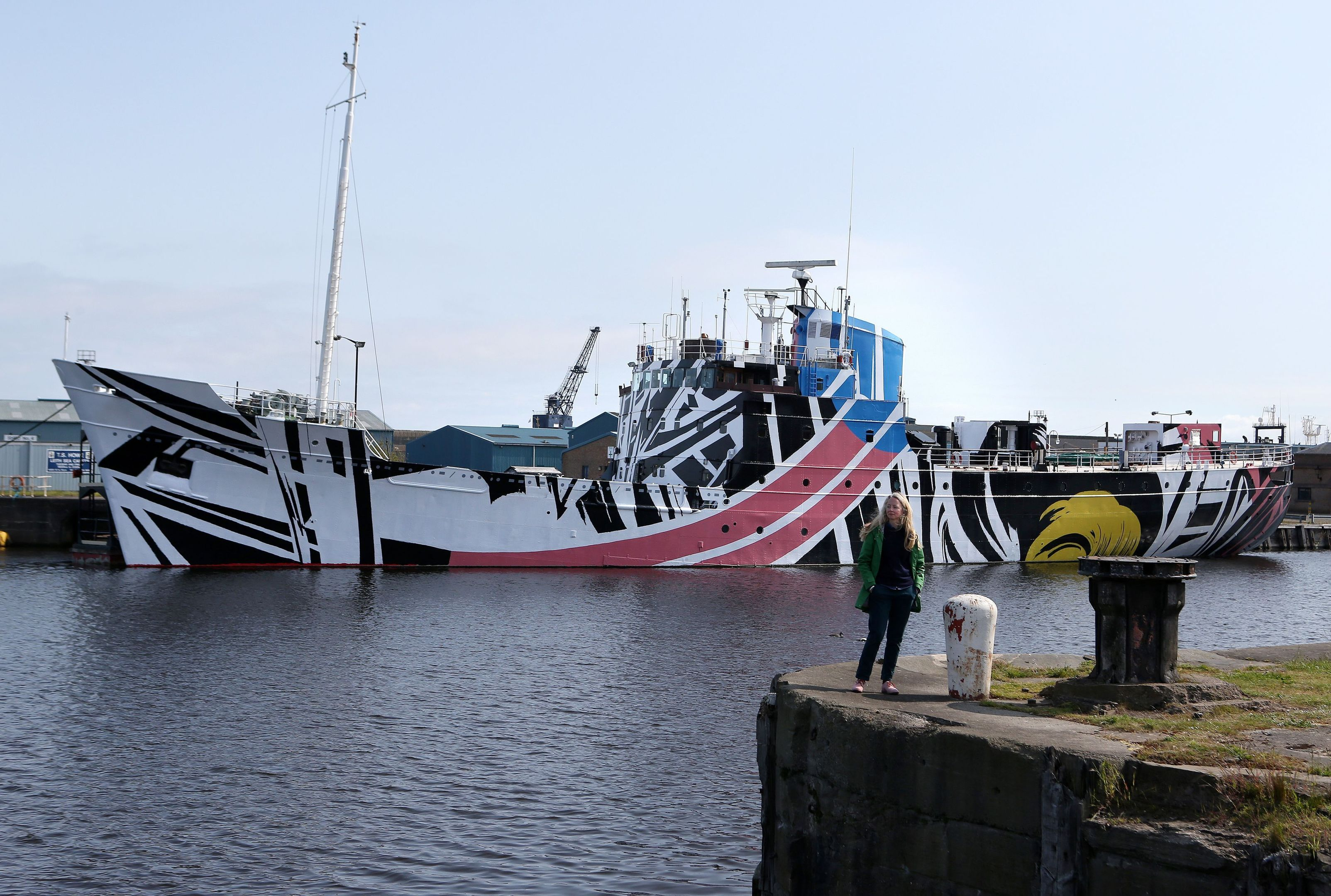 "Ciara's design is the fourth in a series of ""Dazzle Ships"" by contemporary artists to coincide with First World War commemorations and the centenary of the Battle of Jutland."