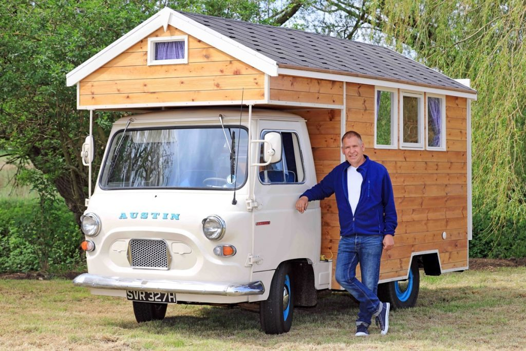 Stephen Alleyne's mobile shed.