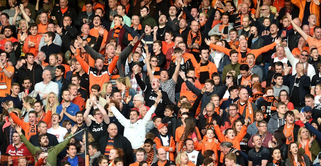 Dundee Utd fans make some noise in happier times