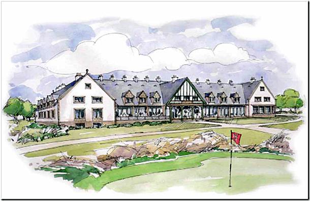 An artist's impression of the Feddinch club house.