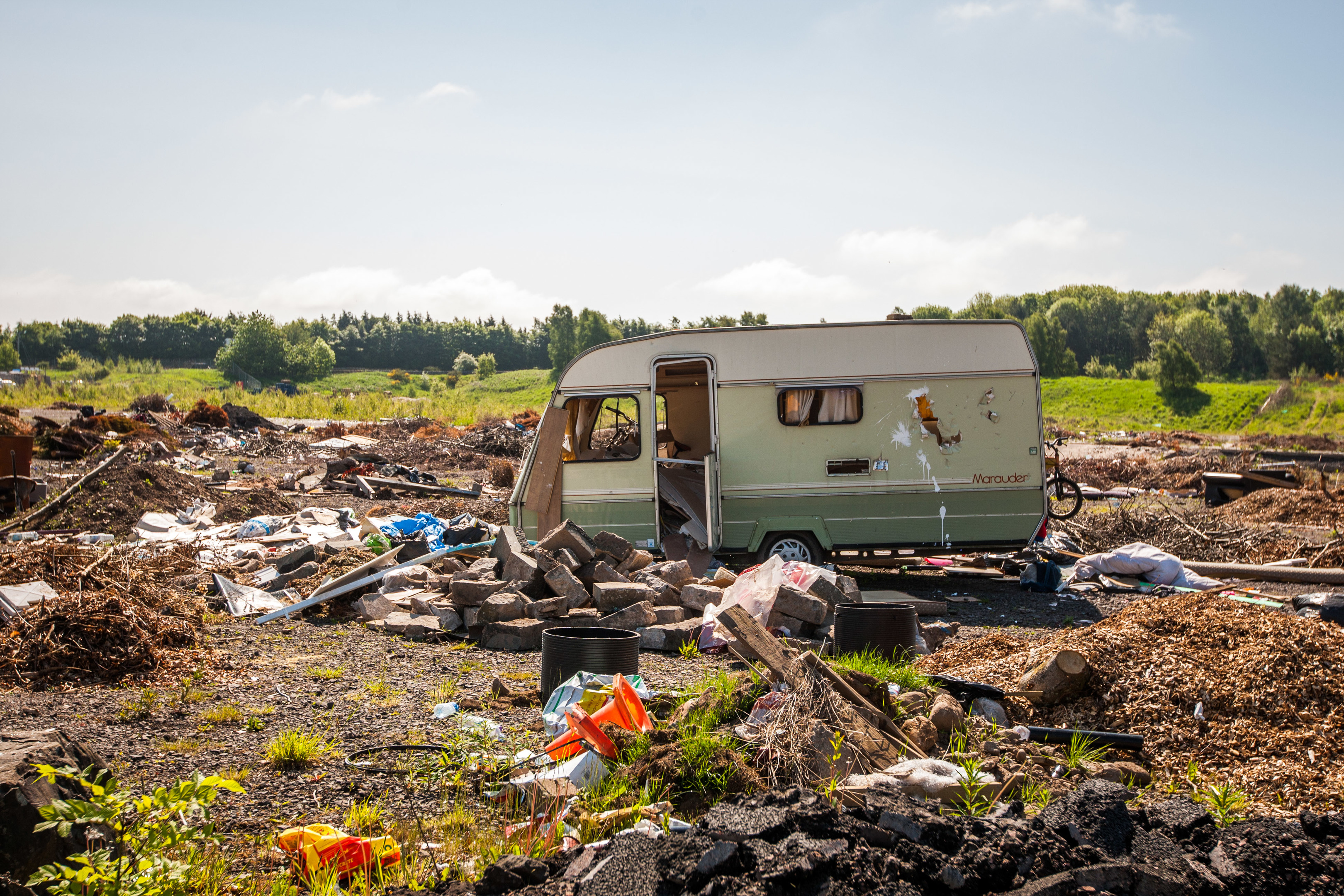 Flytipping in the Tayside area.