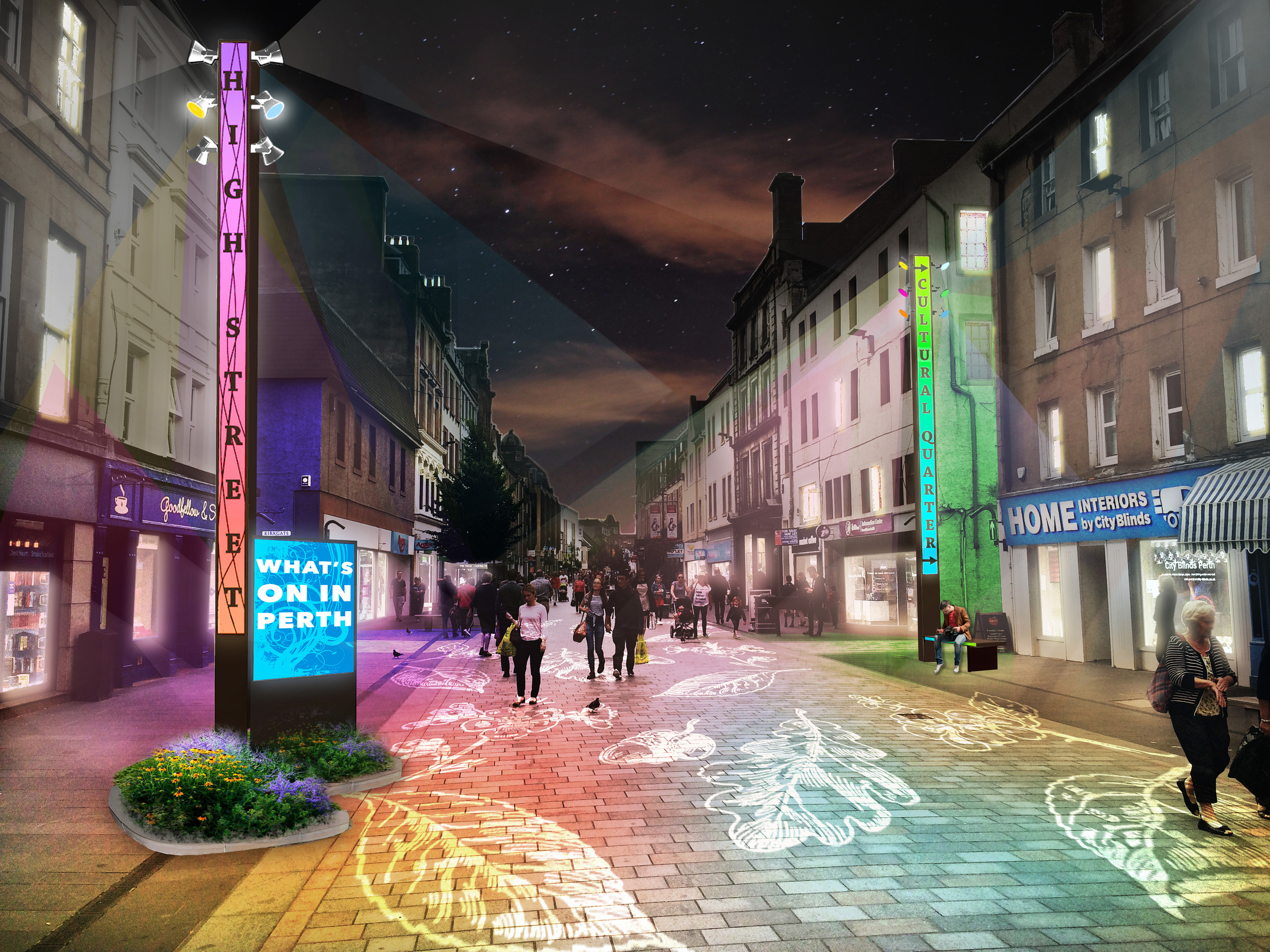 An artist's impression of Perth High Street.