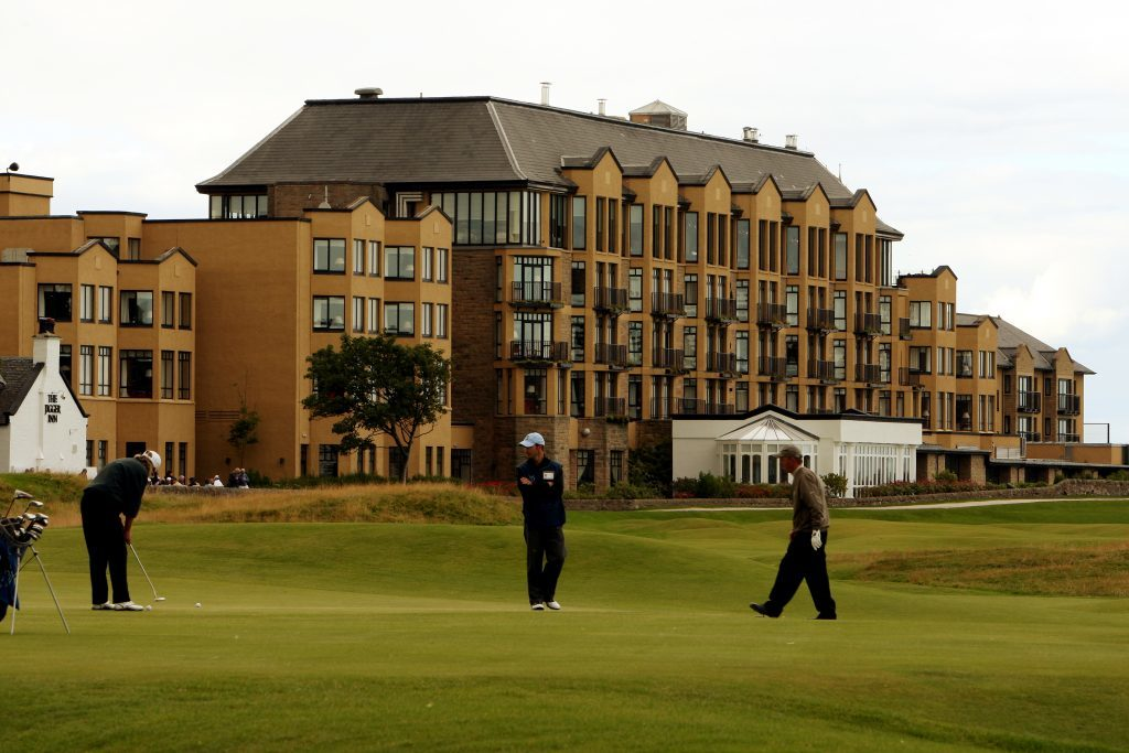 Old Course Hotel from the 17th green of the Old Course