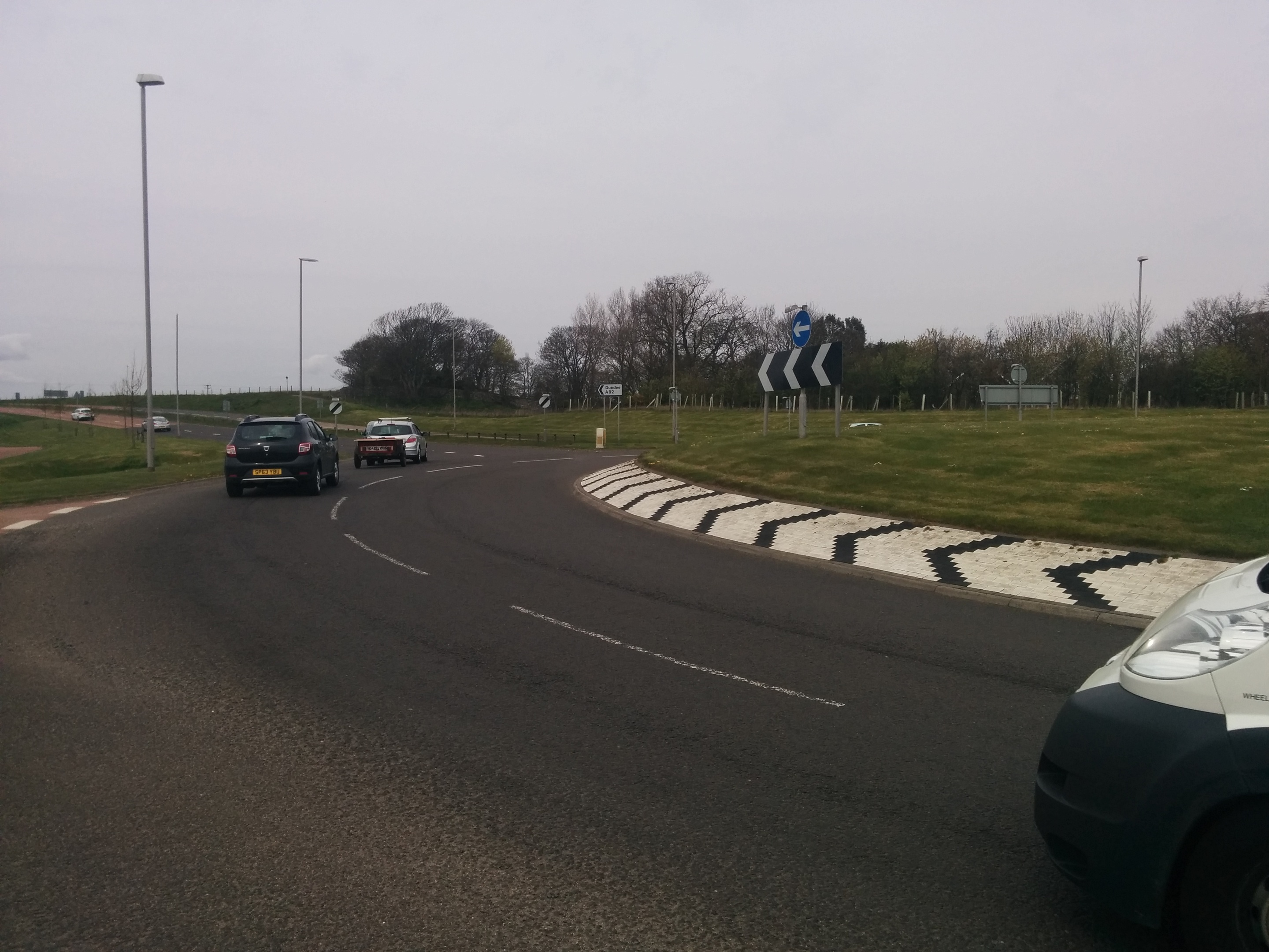 Elliot roundabout on the outskirts of Arbroath.