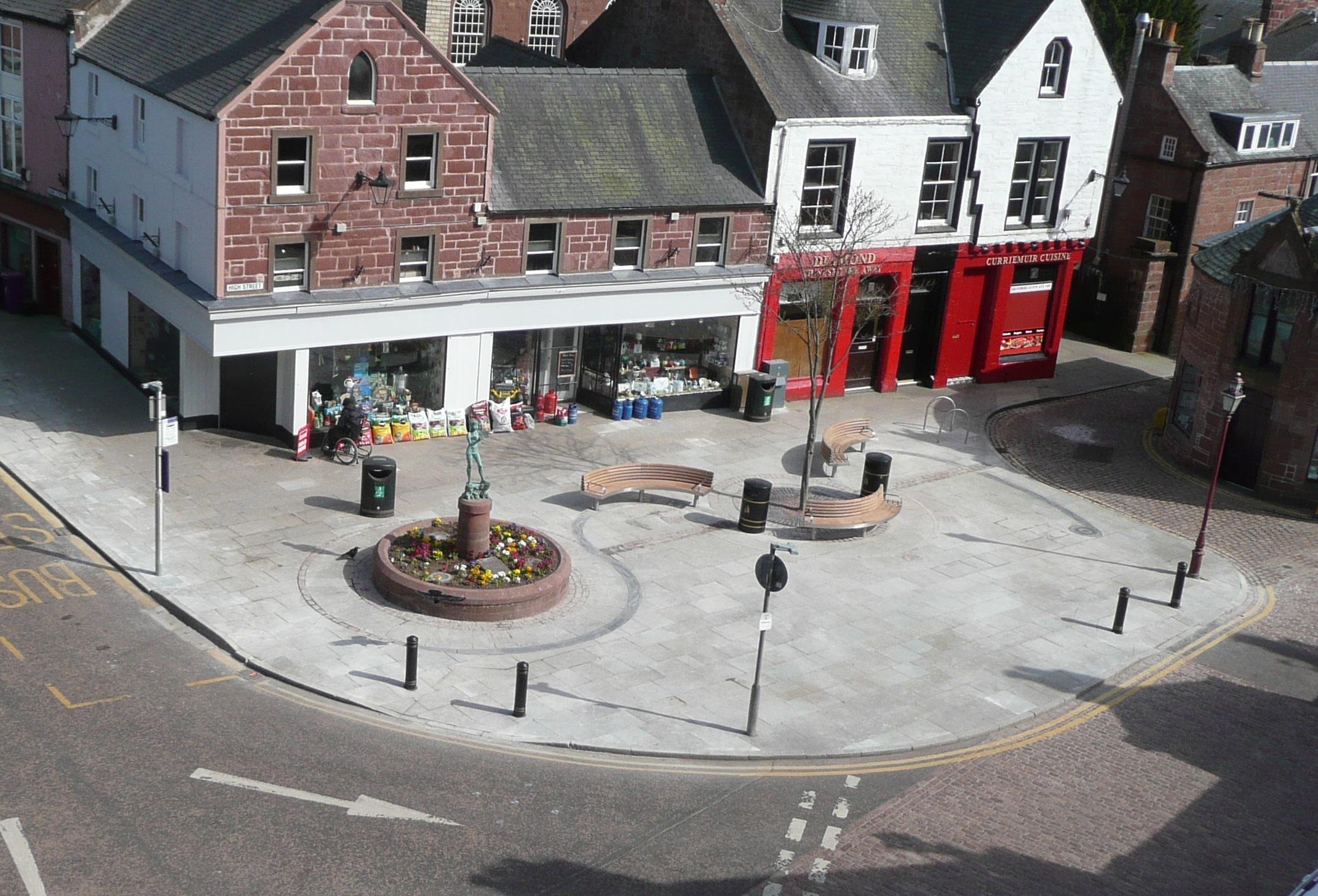 Kirriemuir town centre.