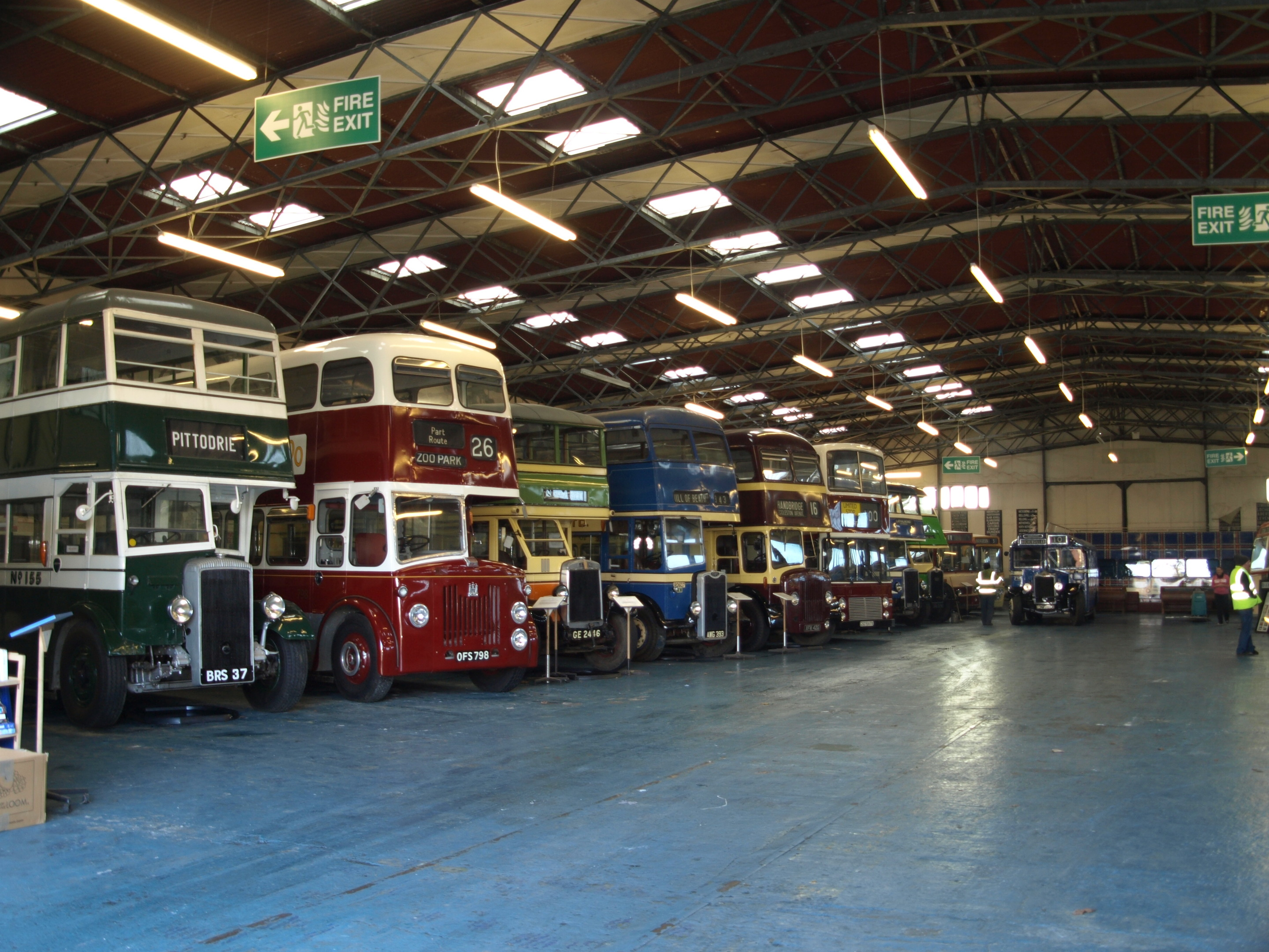 Buses at the Lathalmond vintage bus museum
