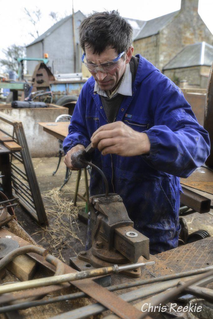 Blacksmith Mihai Cocris at his forge