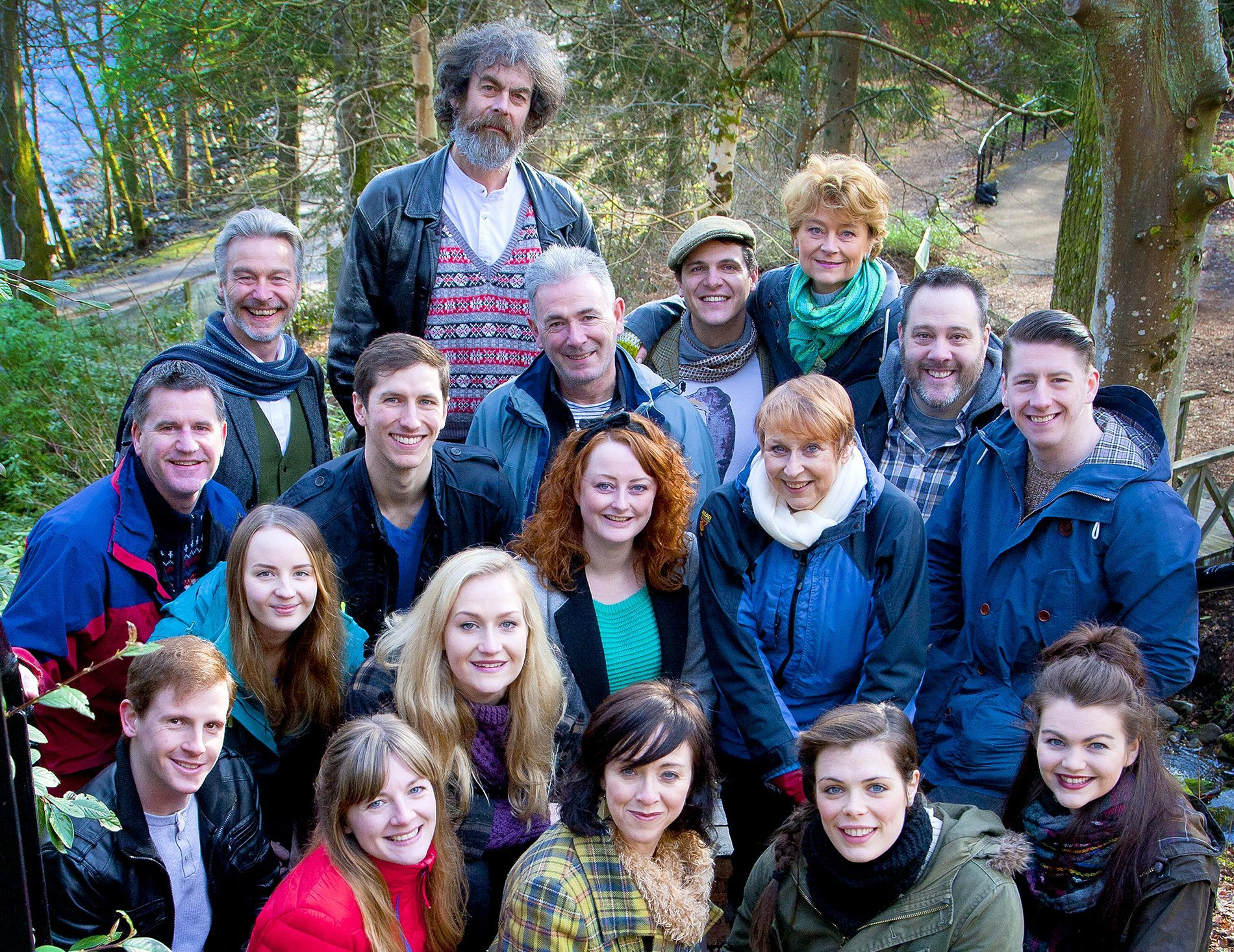 Pitlochry Festival Theatres 18-strong ensemble.Pitlochry Festival Theatres 18-strong ensemble.