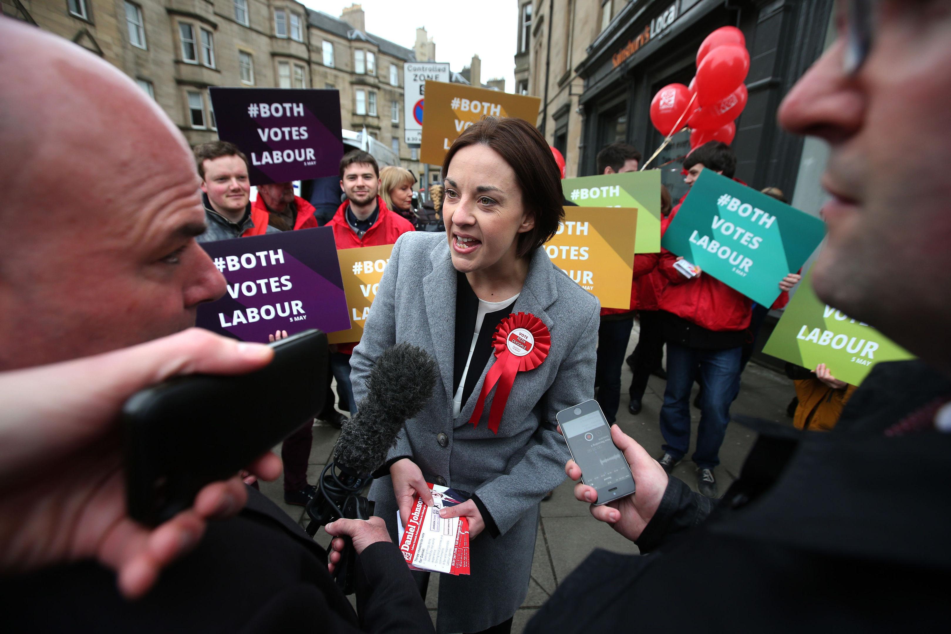 Scottish Labour leader Kezia Dugdale at a campaign event in Edinburgh.