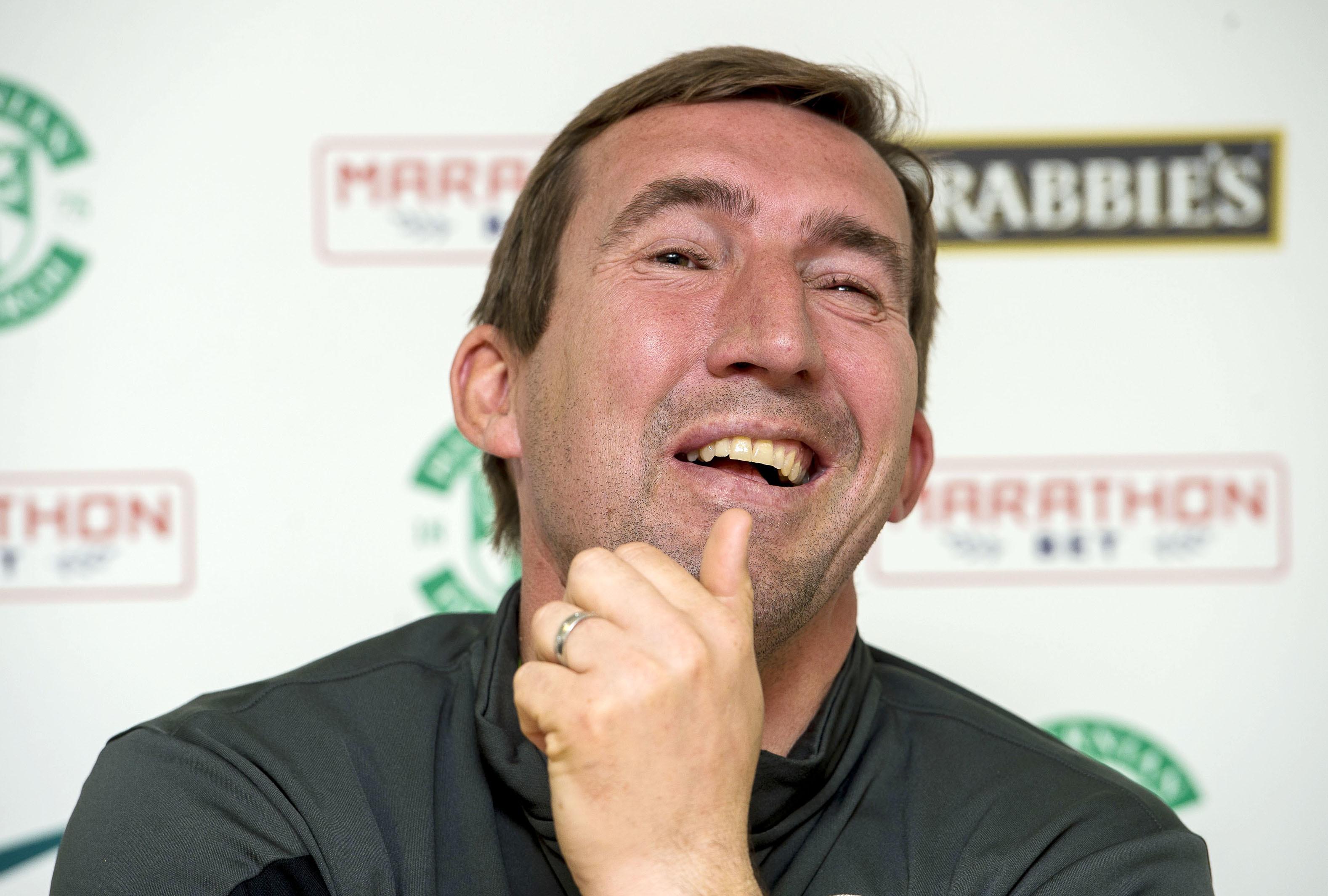 Hibernian manager Alan Stubbs.
