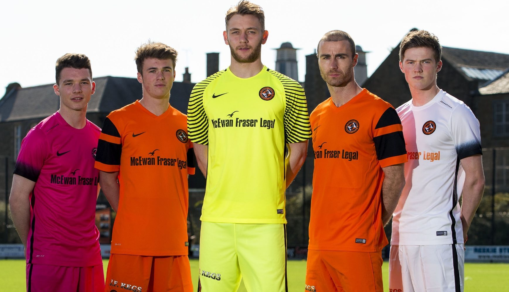 Blair Spittal (far right) at United's kit launch.