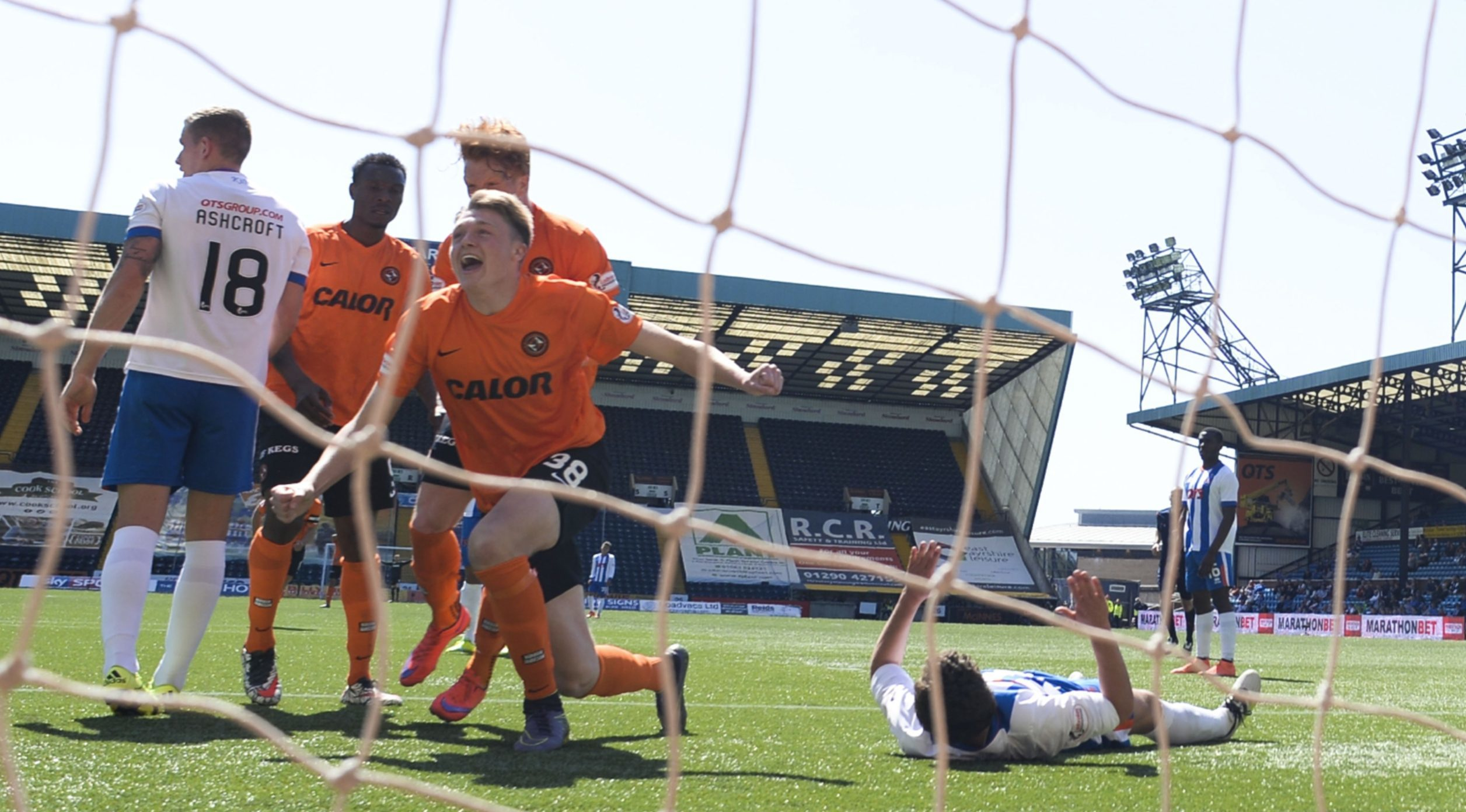 Harry Souttar (number 38) scores United's fourth goal.