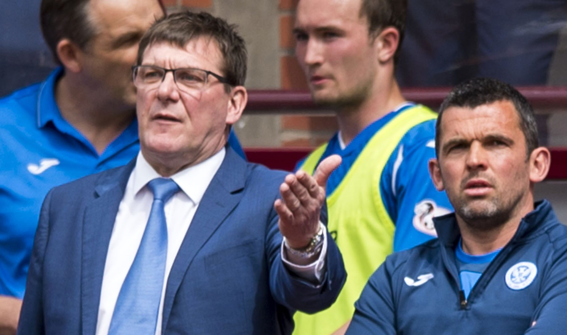 Tommy Wright at Tynecastle.