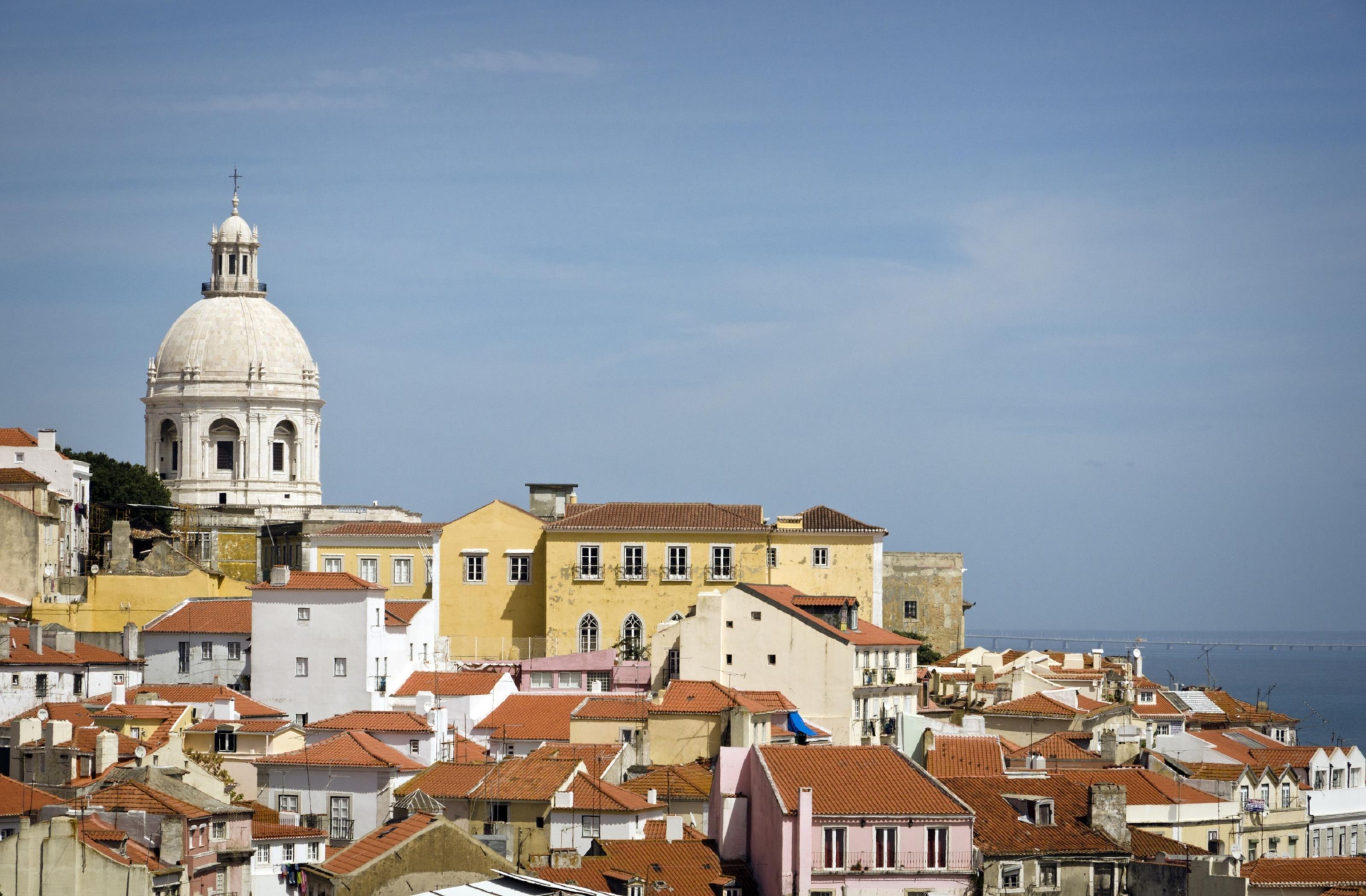 Rooftops in Lisbon.