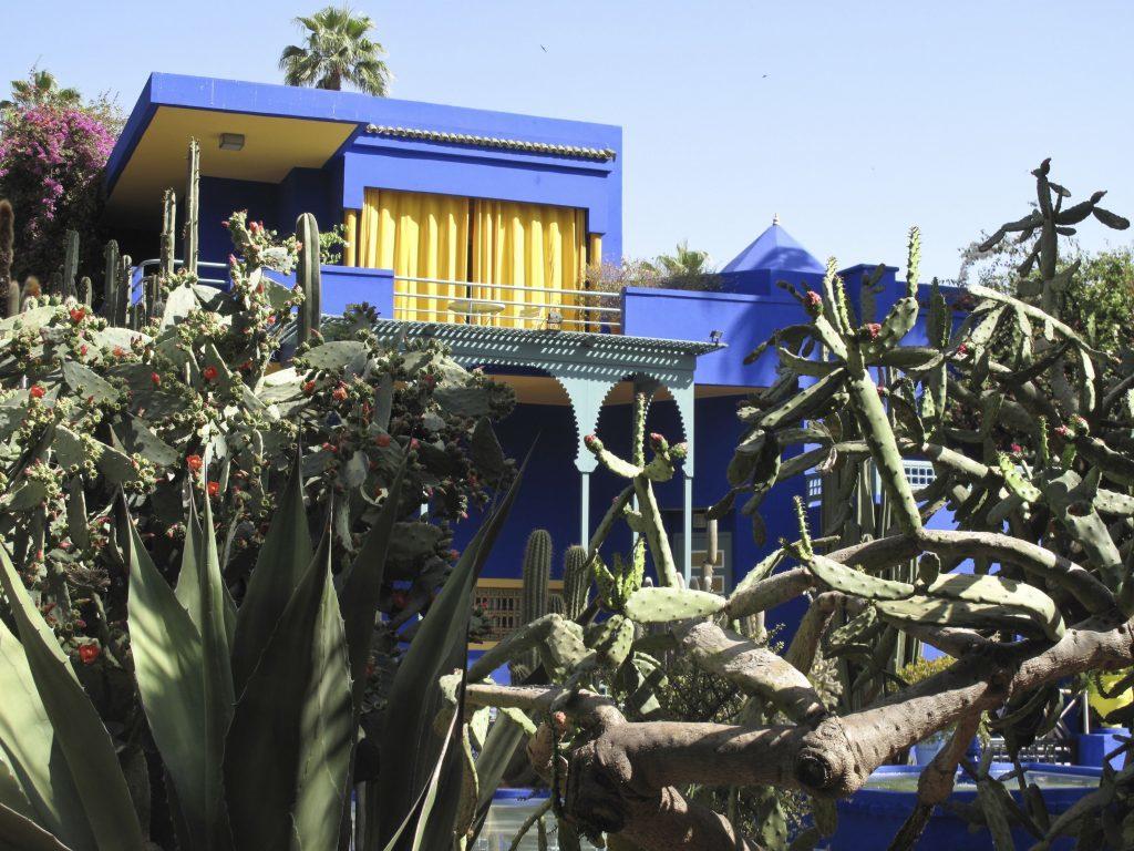 The Majorelle Gardens at the residence of Yves St Laurent in Marrakech.