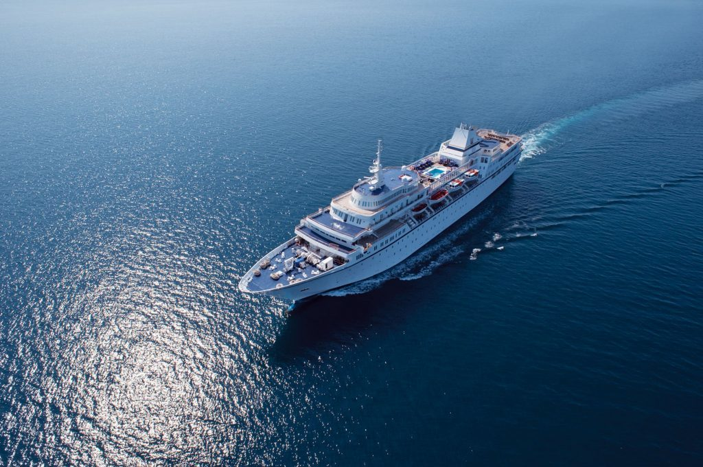 The Aegean Odyssey at sea.