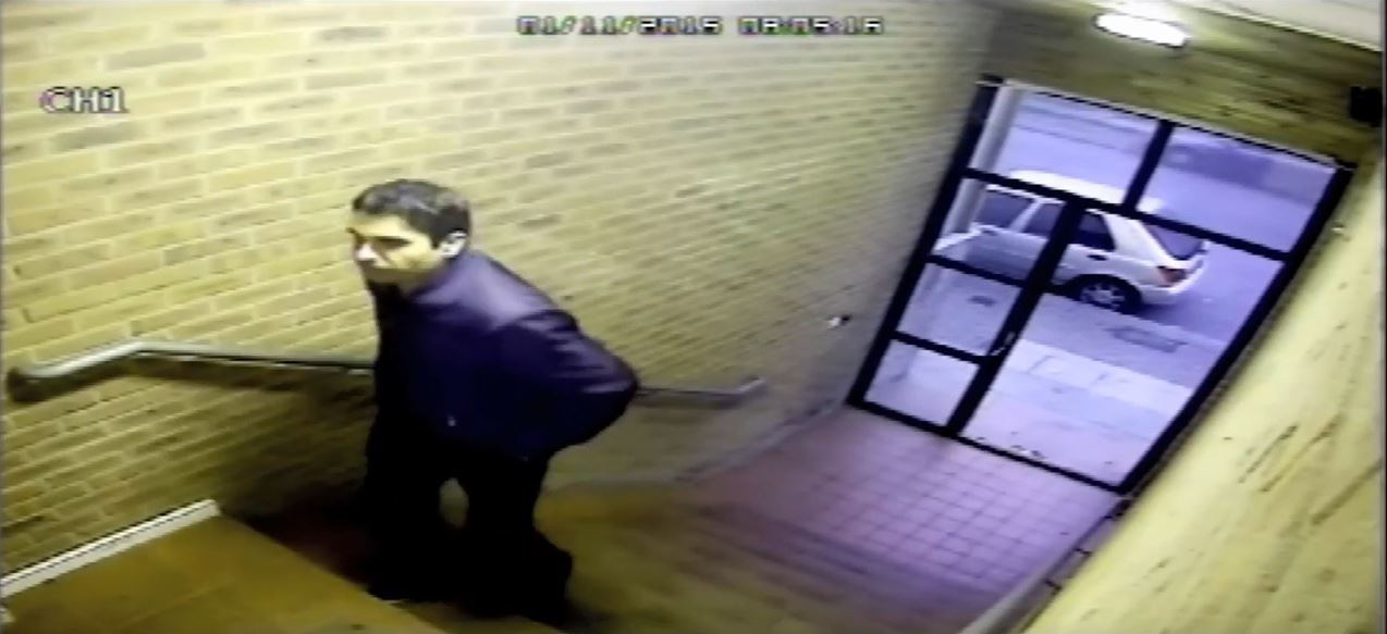 Tahir Nazir caught on camera prowling in student residences.