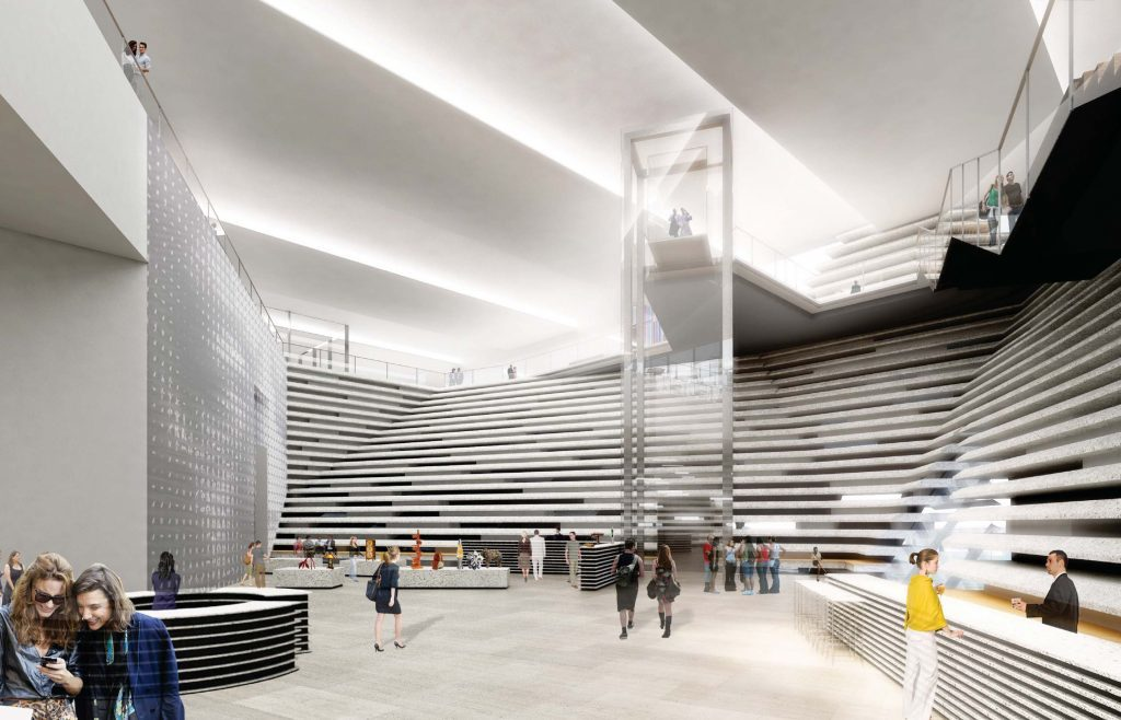 Illuistration of how the main hall of the V&A Dundee might look