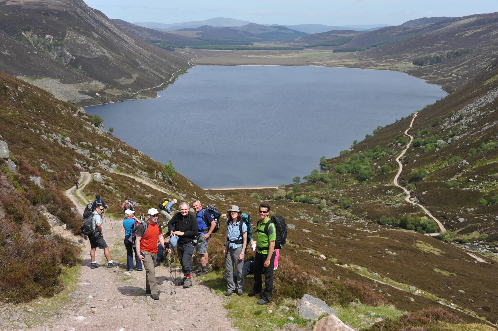 Walkers enjoy the Angus Glens Walking Festival in 2014.