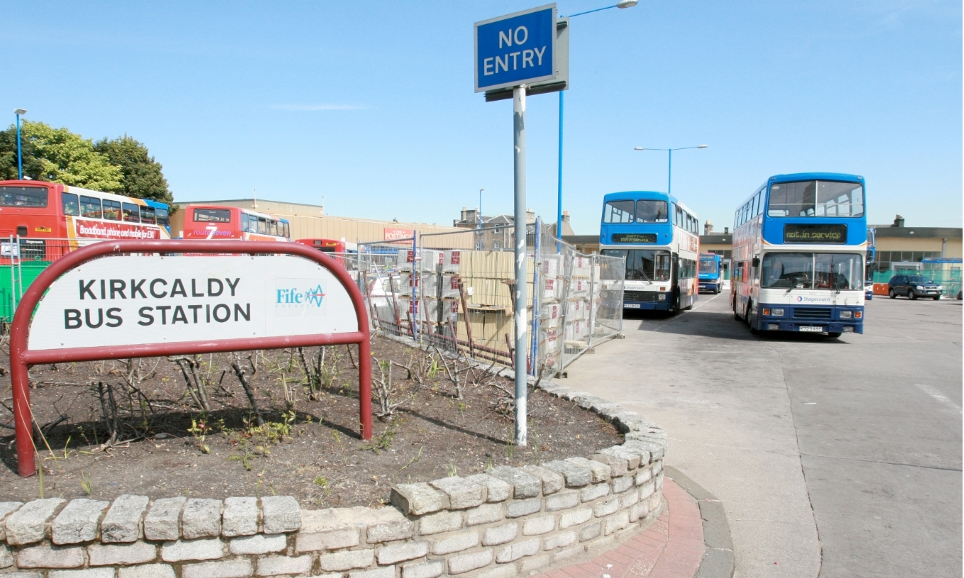 The assault took place close to Kirkcaldy Bus Station.