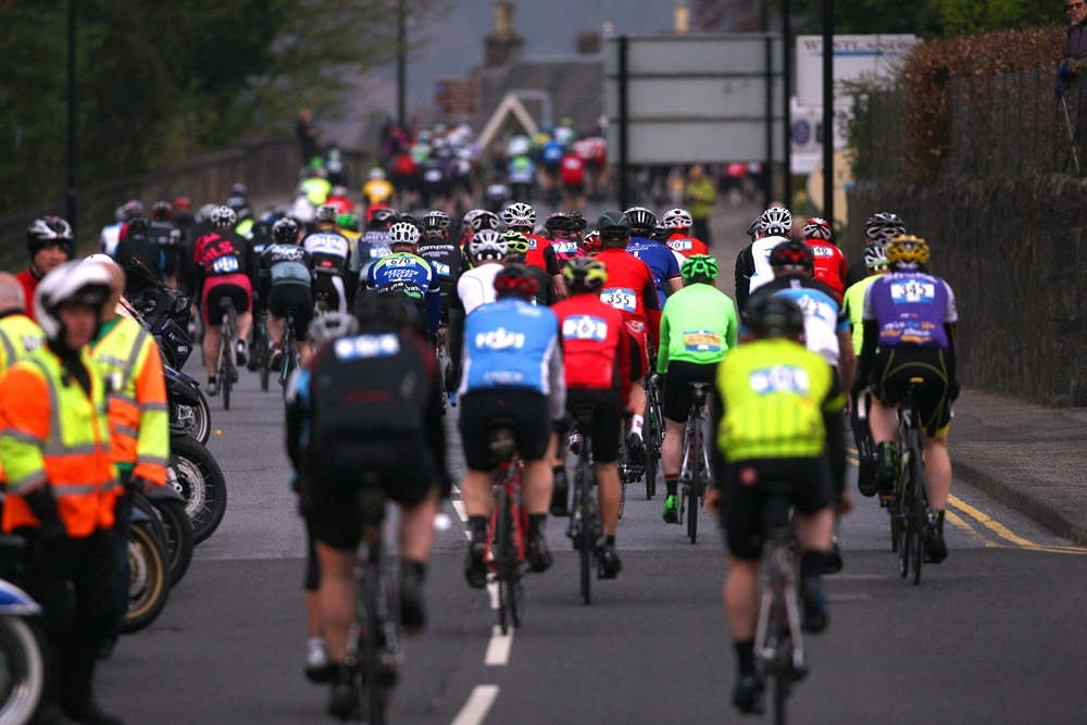 Around 5,000 cyclists take part in the Etape Caledonia each year, enjoying closed roads along the 81-mile route.
