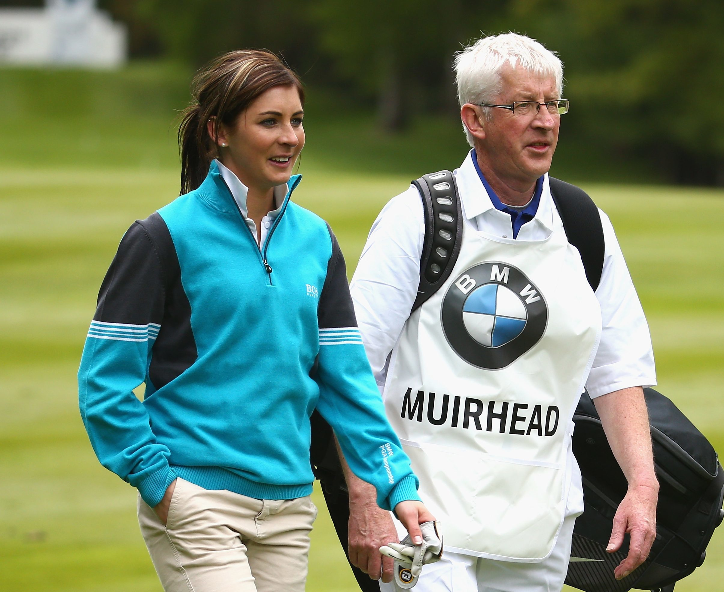 Eve and her dad at last year's pro-am.
