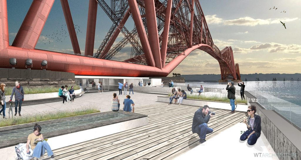 Visitor centre proposals at the Forth Rail Bridge