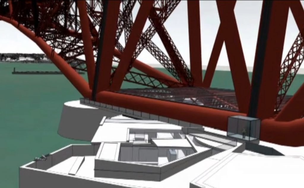An exhibition centre is proposed for the Fife side of the Forth Rail Bridge