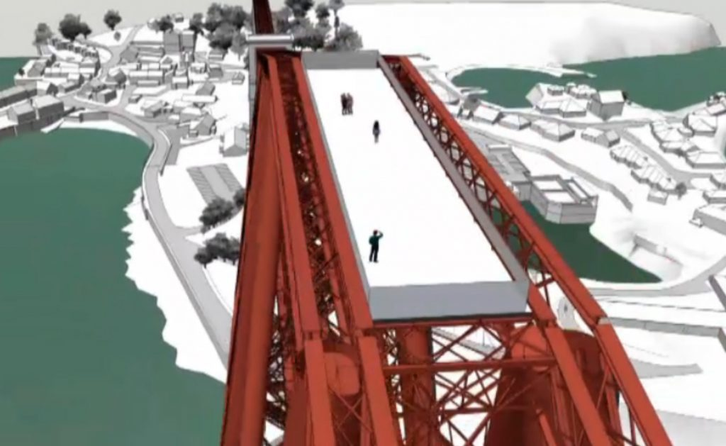 "Plans have been unveiled for a viewing platform at the top of the Forth Bridge to give visitors a ""close-up"" look at one of Scotland's most famous sights."