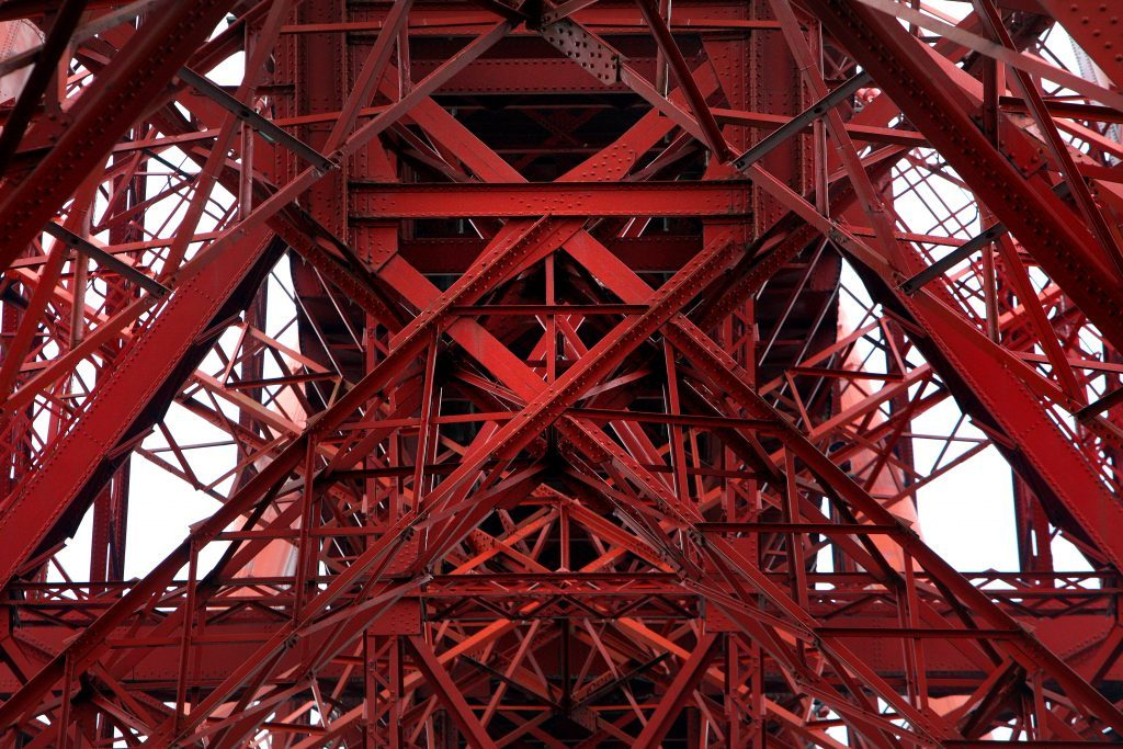 Forth Rail Bridge from below